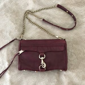 Rebecca Minkoff Mac Burgundy Leather Crossbody